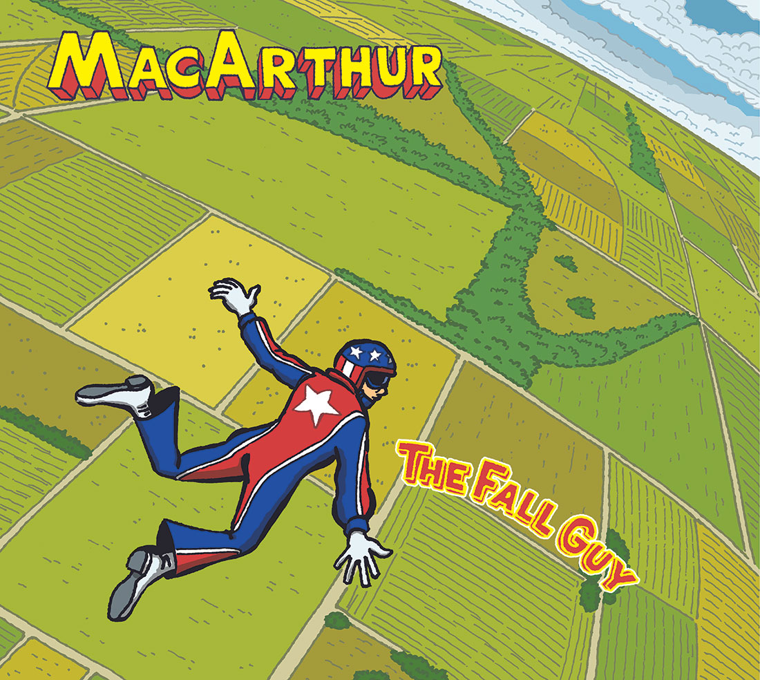 MacArthur CD cover: THE FALL GUY